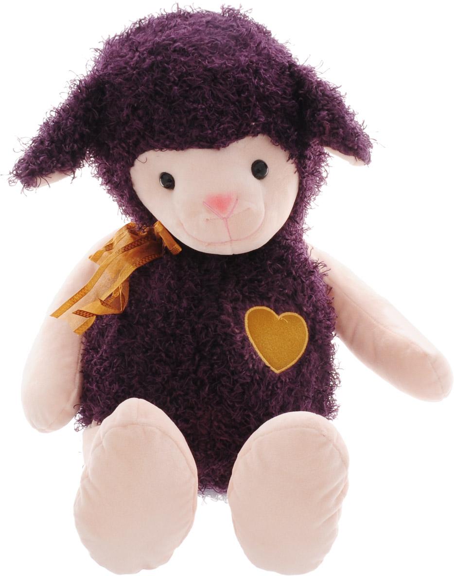 Magic Bear Toys Мягкая игрушка Овечка цвет фиолетовый 42 см цена