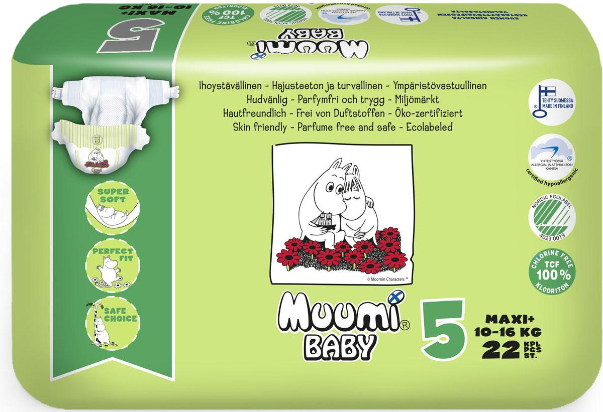 MUUMI Детские подгузники MAXI+ 10-16 KG 22 шт