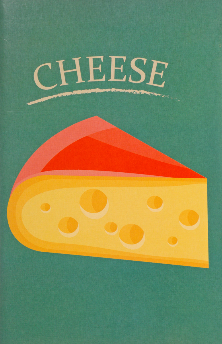 Cheese40А4В_16264Дизайнерский блокнот Like с чистыми листами для рисунков и записей.