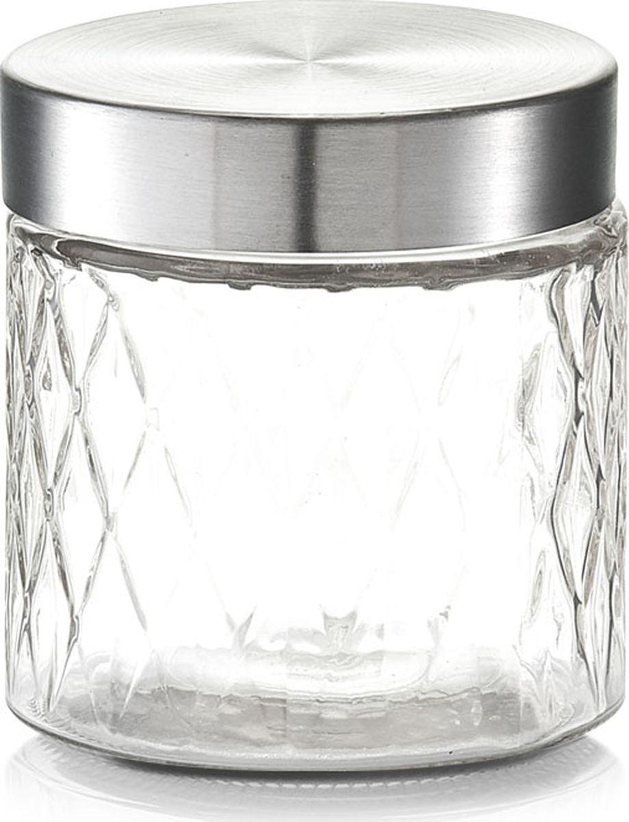 Банка для сыпучих продуктов Zeller, цвет: прозрачный, серый, 750 мл банка для хранения zeller цвет прозрачный бирюзовый 1 15 л