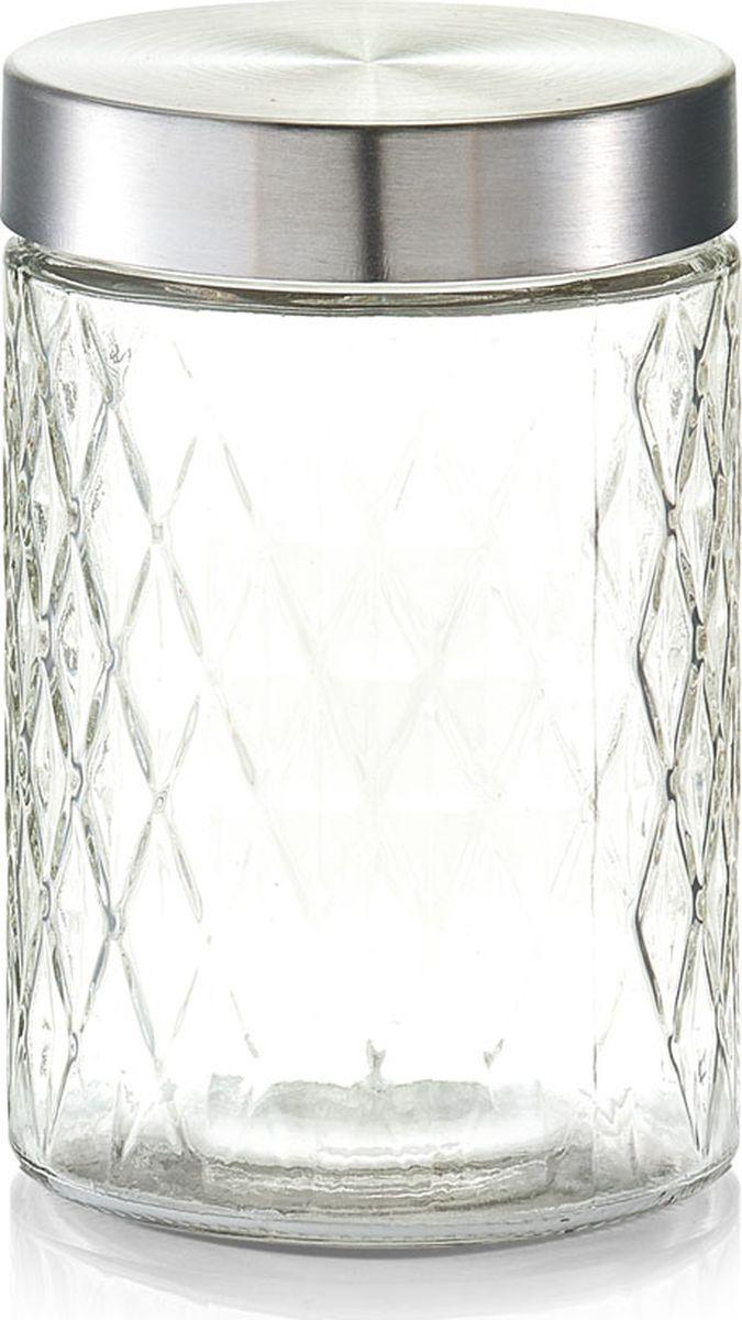 Банка для сыпучих продуктов Zeller, цвет: прозрачный, серый, 1200 мл банка для хранения zeller цвет прозрачный бирюзовый 1 15 л