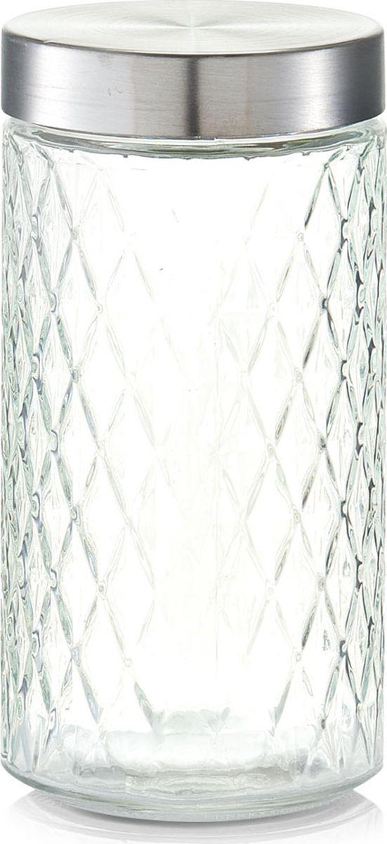 Банка для сыпучих продуктов Zeller, цвет: прозрачный, серый, 1,5 л банка для хранения zeller цвет прозрачный бирюзовый 1 15 л