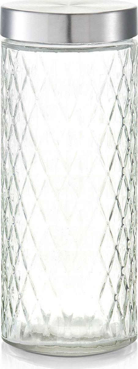 Банка для сыпучих продуктов Zeller, цвет: прозрачный, серый, 2 л банка для хранения zeller цвет прозрачный бирюзовый 1 15 л