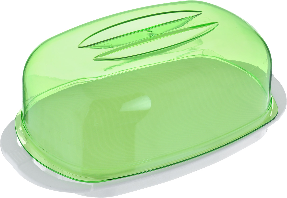 Контейнер Giaretti, цвет: зеленый, белый, 29,2 х 17 х 11 см контейнер giaretti цвет кремовый прозрачный 29 2 х 17 х 11 см