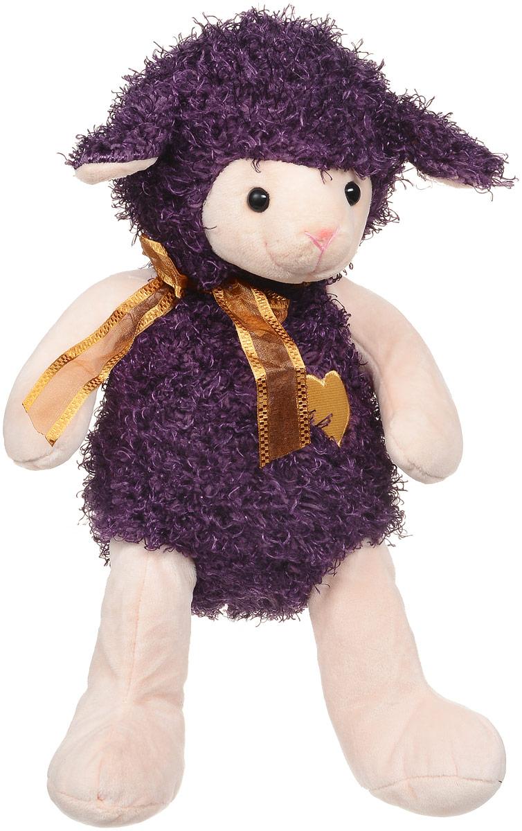 Magic Bear Toys Мягкая игрушка Овечка цвет фиолетовый 28 см цена