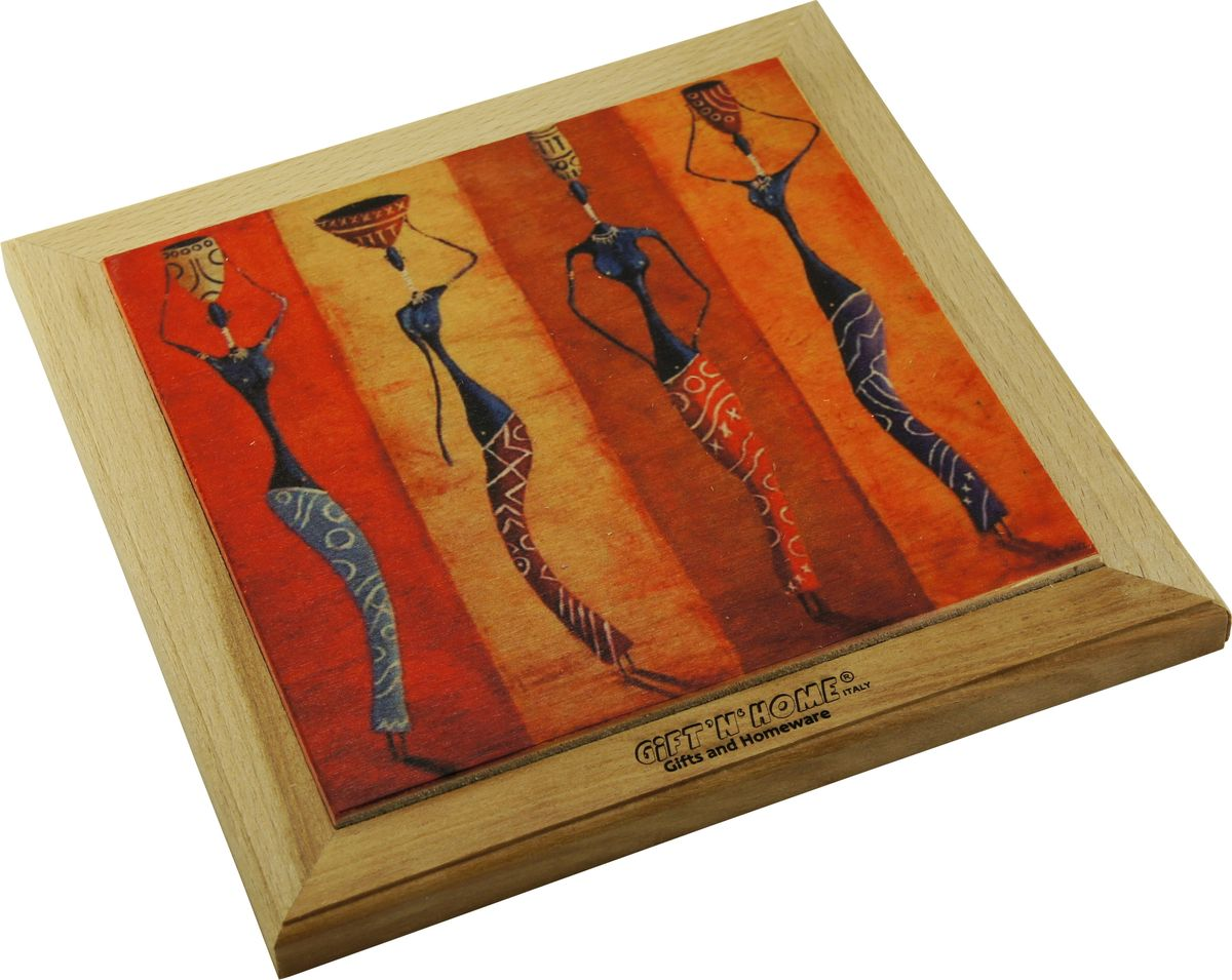 Подставка под горячее Gift'n'home Африканские мотивы, цвет: дерево, 20 х 20 см акриловая ванна besco bianka 150x95 l