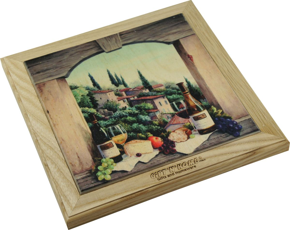 Подставка под горячее Gift'n'home Завтрак в Тоскане, цвет: дерево, 20 х 20 см