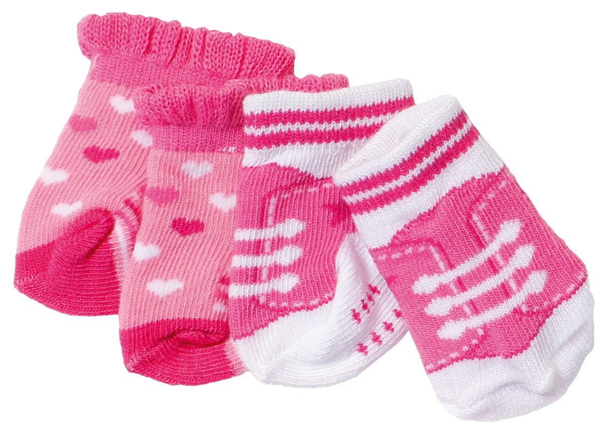 Baby Born Носочки 2 пары цвет розовый цена