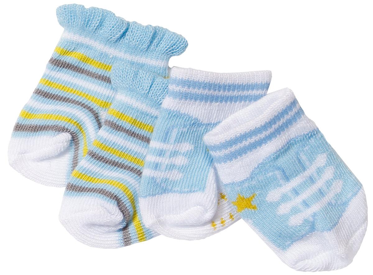 Baby Born Одежда для кукол Носочки 2 пары цвет голубой голубой, белый, салатовый цена