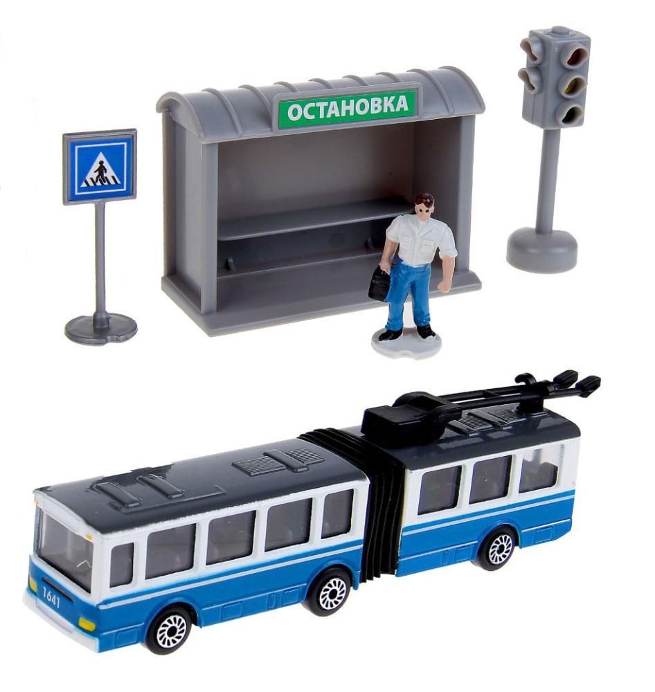 ТехноПарк Игровой набор Городской транспорт Троллейбус цена