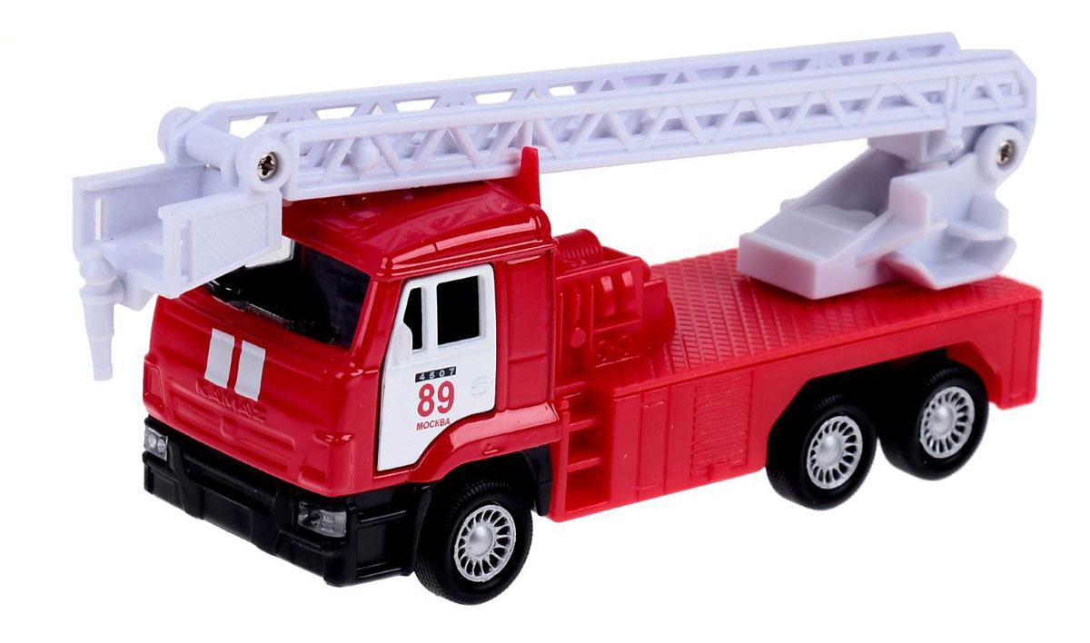 ТехноПарк Пожарная машина инерционная КамАЗ цвет красный белый автомобиль технопарк гонки цвет в ассортименте ebs868 r