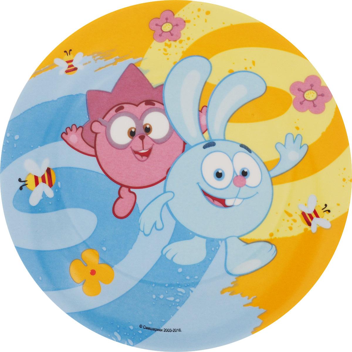 Смешарики Тарелка детская Друзья диаметр 19 см смешарики тарелка детская конфеты диаметр 19 5 см