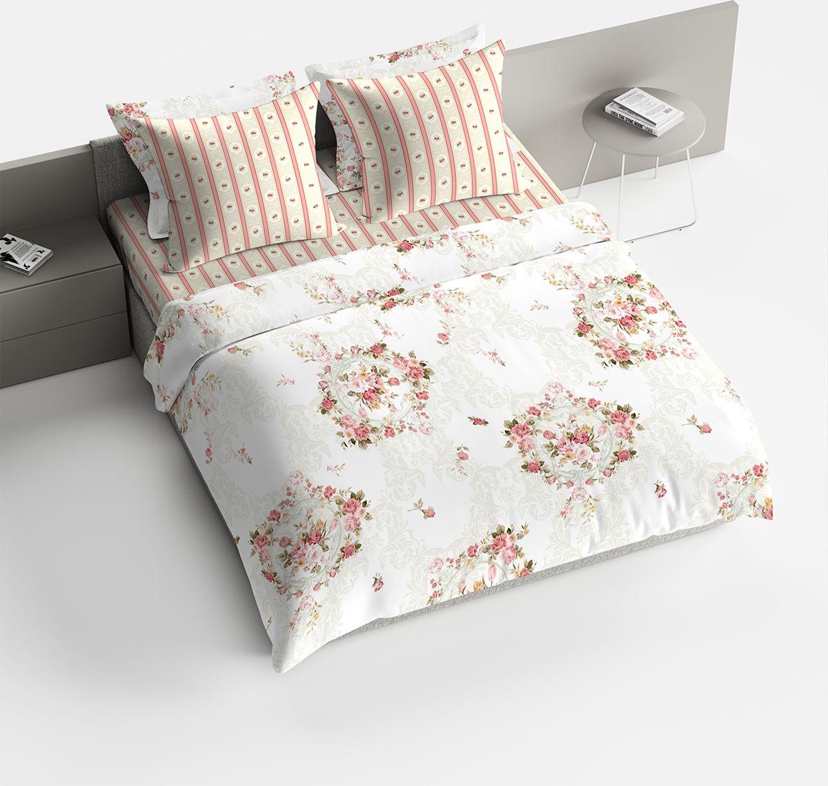 Фото - Комплект белья Bravo Пробуждение, 2-спальный, наволочки 70x70, цвет: персиковый. 1842-1 постельное белье этель кружева комплект 2 спальный поплин 2670978