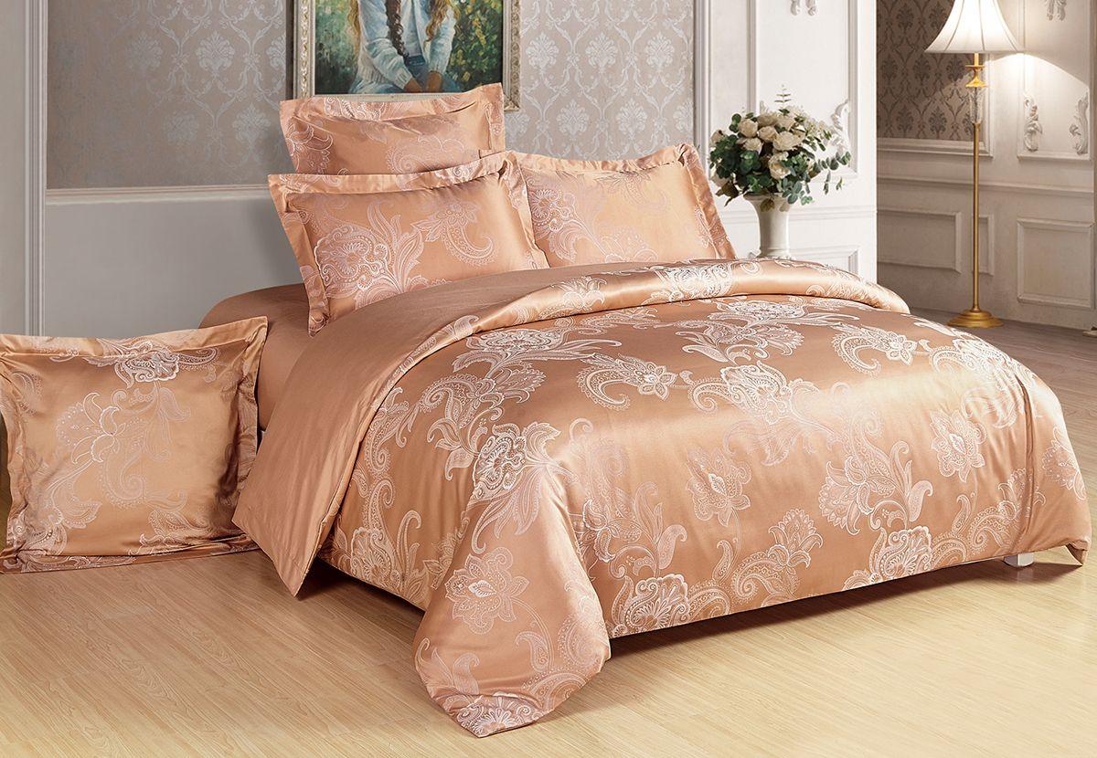 """Комплект белья Versailles """"Эвелина"""", 2-спальный, наволочки 50x70, цвет: янтарный"""