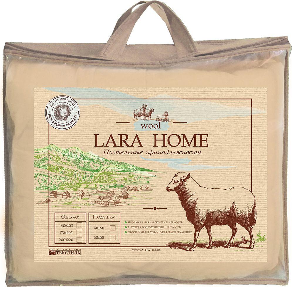 одеяло grass familie angora familie wool всесезонное наполнитель козий пух мериносовая шерсть цвет белый 155 х 200 см Одеяло Lara Home Wool, всесезонное, наполнитель: овечья шерсть, 200 х 220 см
