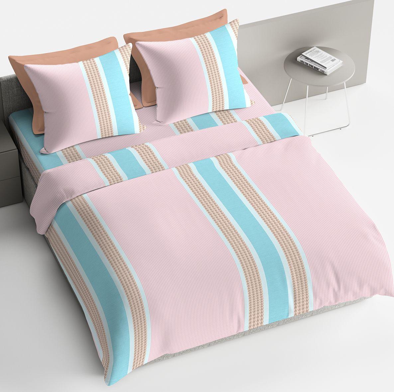 """Комплект белья Браво """"Адриано"""", 1,5-спальный, наволочки 70x70, цвет: розовый"""