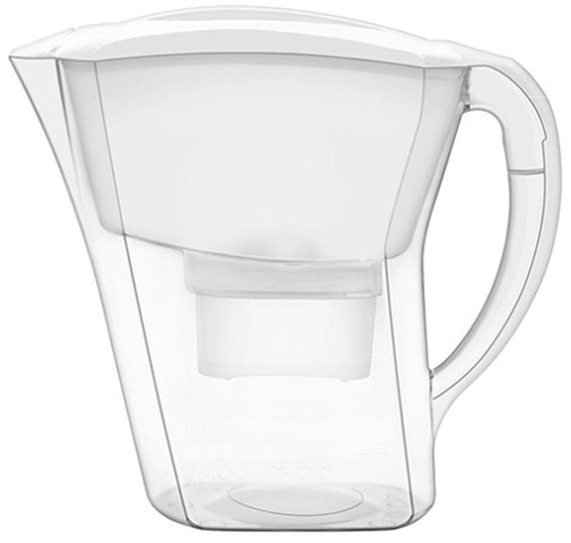Фильтр-кувшин для воды Аквафор Агат, цвет: белый, прозрачный, 3,8 лАГАТ (бел.)Практичный и удобный фильтр-кувшин Аквафор Агат очищает питьевую воду от активного хлора, тяжелых металлов и других опасных примесей, встречающихся в водопроводной воде. Корпус фильтра и фильтрующий сменный модуль изготовлены из высококачественного пластика. Изделие снабжено удобной ручкой. Такой кувшин фильтрует 1,7 литра воды за 1 применение и накапливает 3,8 литра очищенной воды. Вам не придется наполнять кувшин несколько раз и долго ждать, чтобы приготовить ужин или сделать чай для гостей. В комплекте имеется универсальный сменный модуль B 100-25. Рекомендуем!