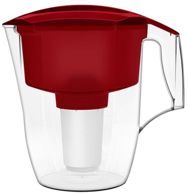 Фильтр-кувшин для воды Аквафор Кантри, цвет: красный, прозрачный, 3,9 л модуль сменный мембранный аквафор к 100 ко 100 100 к