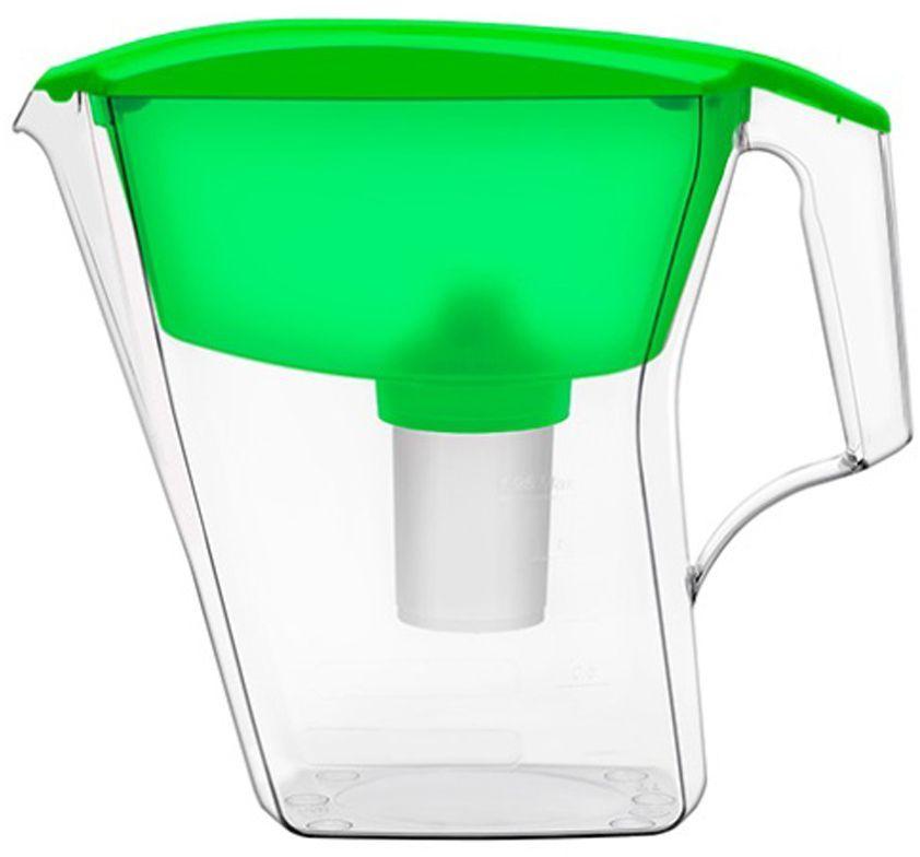 Фильтр-кувшин для воды Аквафор Лайн, цвет: зеленый, прозрачный, 2,8 л фильтр для воды аквафор лайн кувшин зеленый