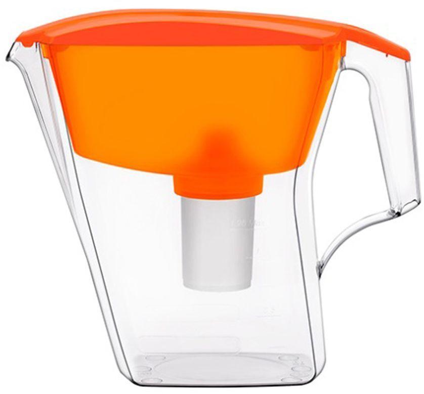 цена на Фильтр-кувшин для воды Аквафор Лайн, цвет: оранжевый, прозрачный, 2,8 л