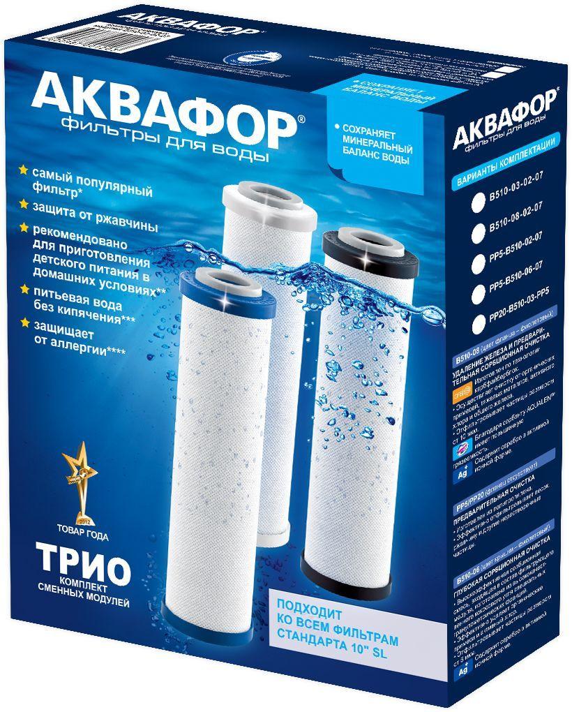 Комплект сменных модулей для фильтра Аквафор Трио Уцененный товар (№24)