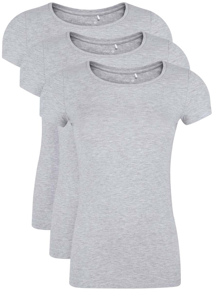 Футболка oodji футболка женская oodji ultra цвет светло серый мультиколор 14707001 31 46154 2019z размер s 44