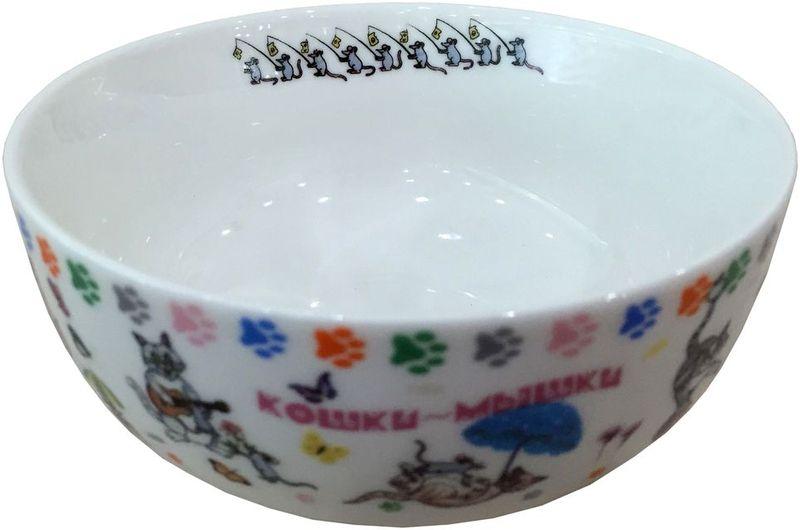 """Набор салатников Gift'n'Home """"Кошки-мышки"""", диаметр 13,5 см, 4 шт"""