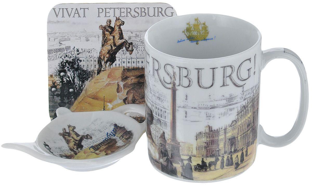 Набор чайный Gift'n'Home S013-3 Vivat, Фарфор, Пробка
