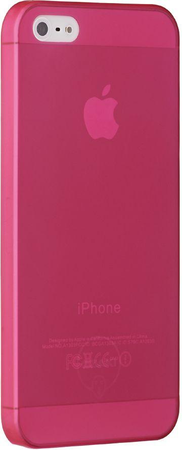 Ozaki O!coat 0.3 Jelly чехол для iPhone 5/5S, Red чехол кошелек samsung galaxy s4 ozaki o coat original малиновый 450113