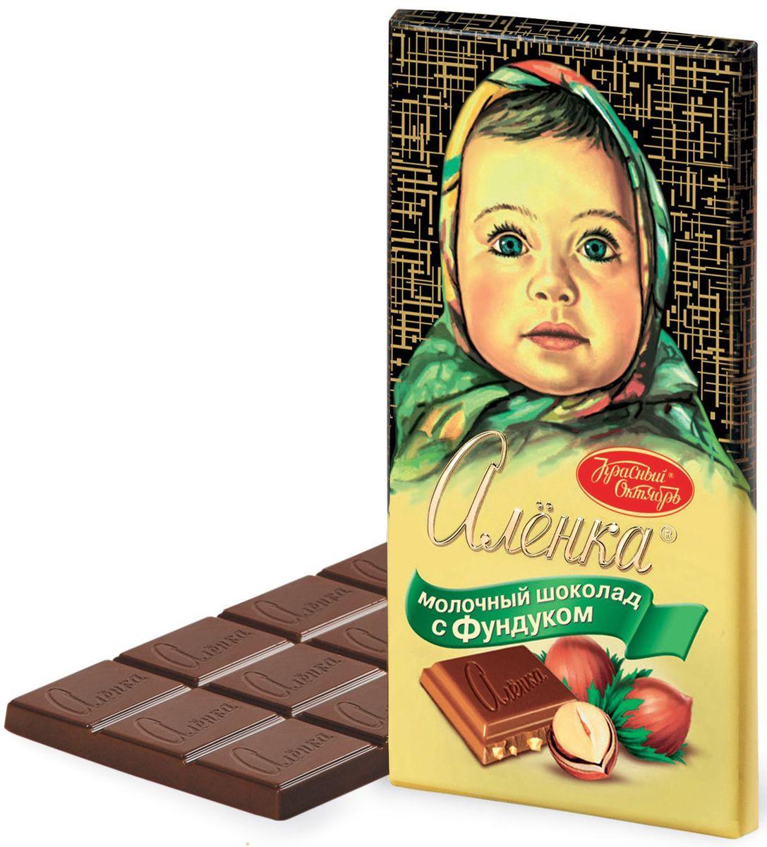 Красный Октябрь Аленка с фундуком молочный шоколад, 200 г