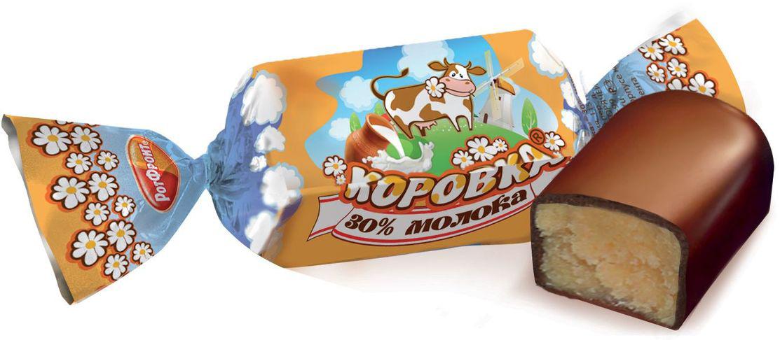 """Рот-Фронт """"Коровка"""" конфеты с 30% молока в шоколадной глазури, 250 г"""