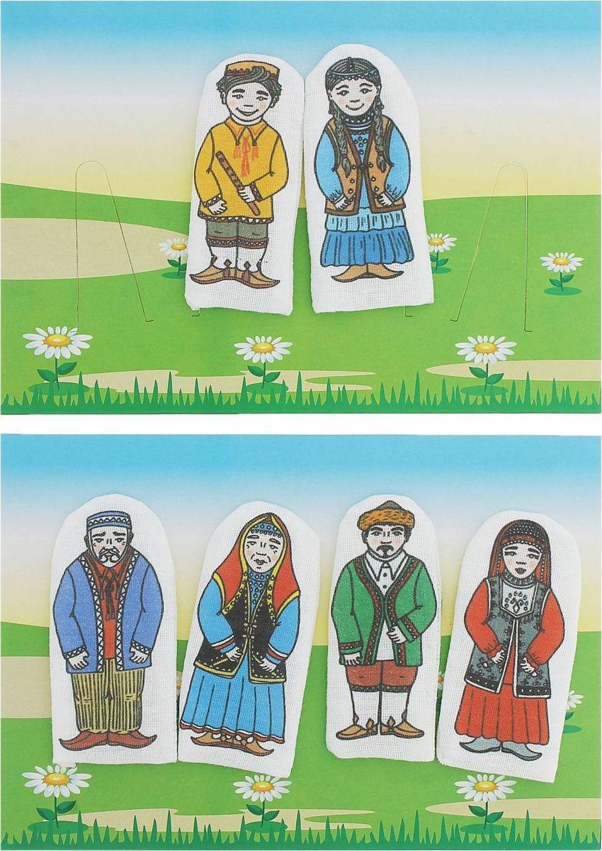 Наивный мир Набор пальчиковых кукол Семья башкирская