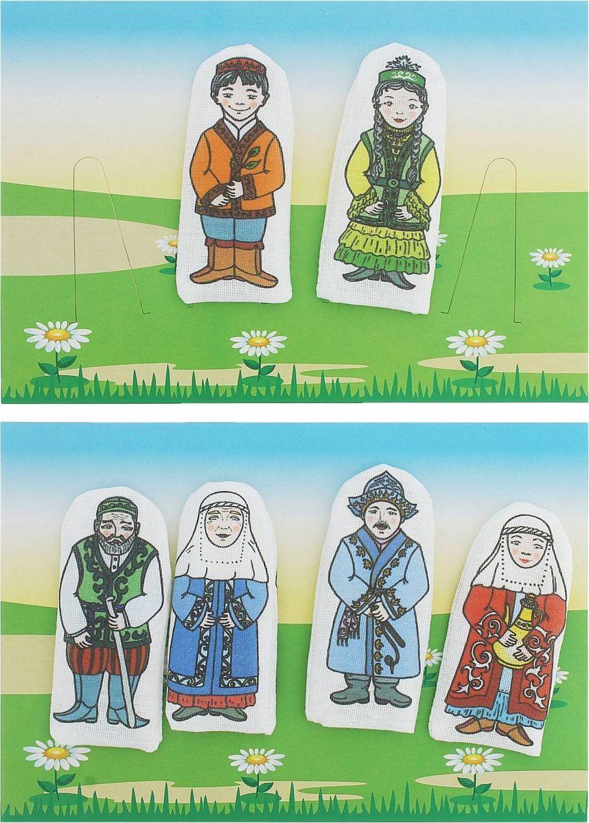 Sima-land Набор пальчиковых кукол Семья казахская