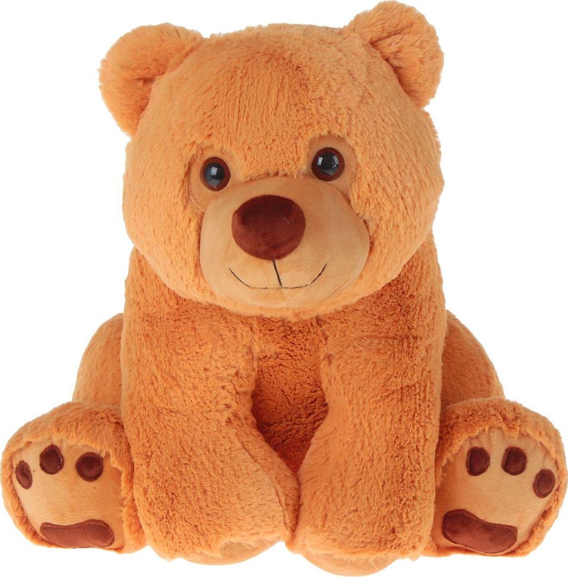Sima-land Мягкая игрушка Медвежонок малый цвет карамельный 55 см1700984Плюшевый медведь - одна из самых символичных и популярных игрушек. Косолапый зверь есть почти у каждого ребёнка, он является главным участником различных забав и развлечений. Мишка станет для малыша верным другом и хорошим компаньоном во множестве игр. Кроме того, это отличный подарок любимому человеку! Игрушка сделана из мягкого и приятного на ощупь искусственного меха и её просто не захочется выпускать из рук. А высококачественный наполнитель подарит зверушке долгую жизнь. Все материалы гипоаллергенны и безопасны для здоровья ребёнка.