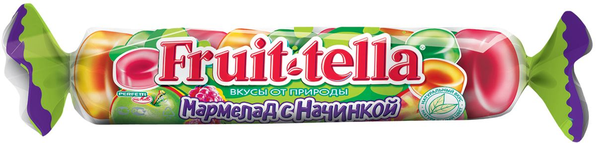Fruittella жевательный мармелад с фруктовой начинкой, 52 г победа вкуса все и сразу цитрус жевательный мармелад и конфеты желейные с начинкой 250 г