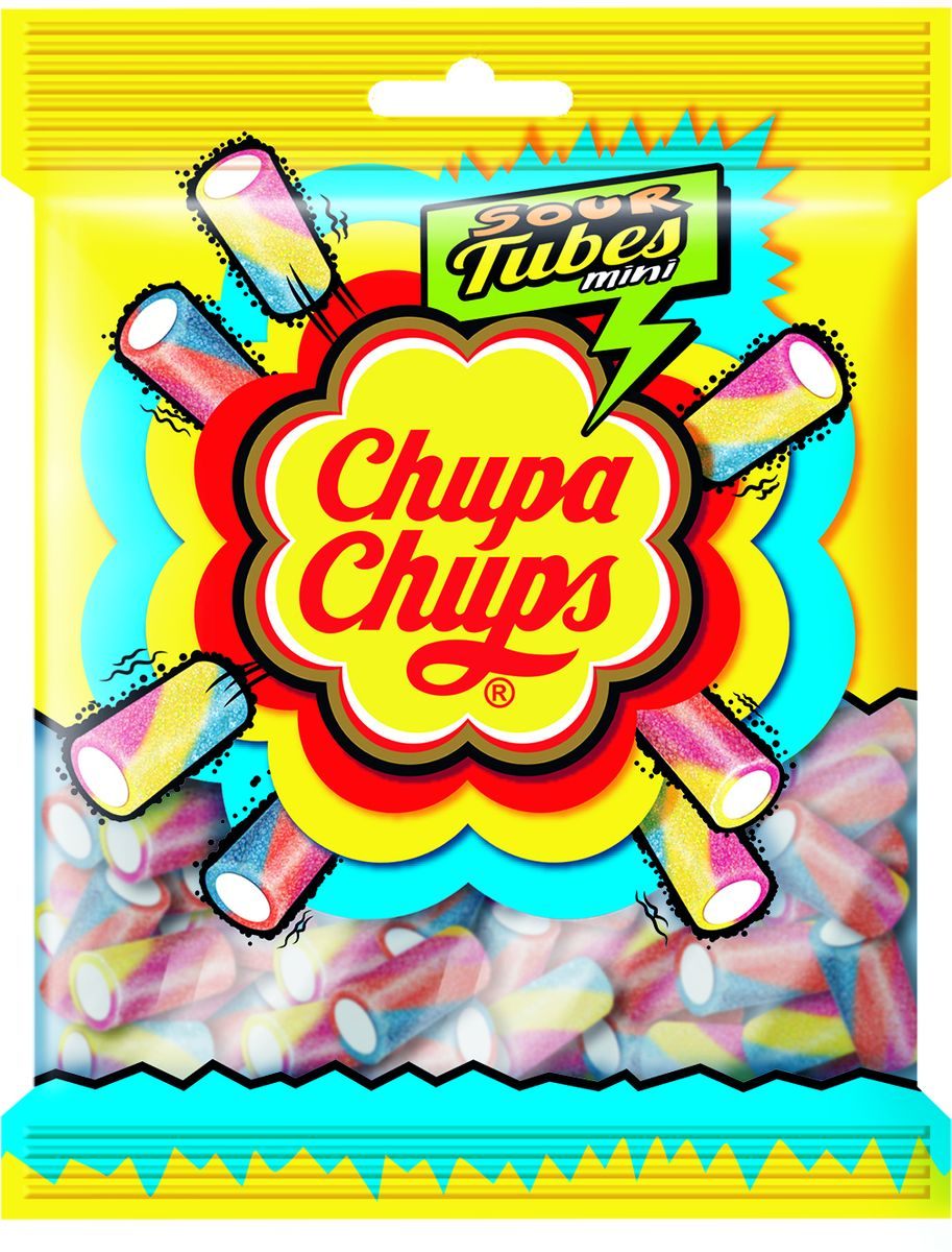 Chupa Chups Жевательный Мармелад Sour Tubes Mini, 150 г победа вкуса шмелькино брюшко микс жевательный мармелад 250 г