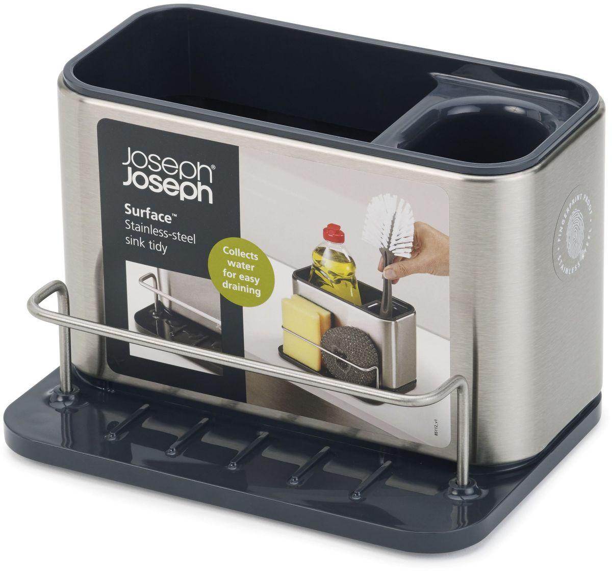 Подставка для кухонных принадлежностей Joseph Joseph Surface, 12,5 х 18 х 12,8 см органайзер для раковины joseph joseph surface из нержавеющей стали 85112