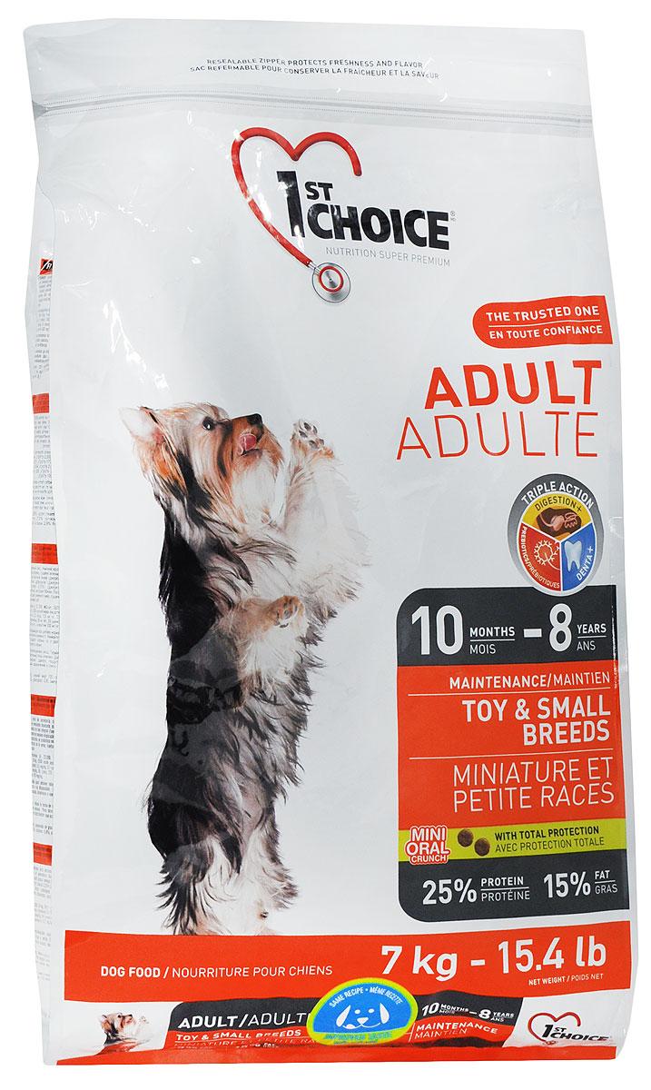 """Корм сухой 1st Choice """"Adult"""" для взрослых собак миниатюрных и мелких пород, с курицей, 7 кг"""
