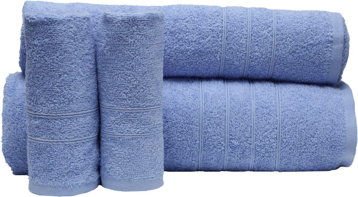 """Набор полотенец """"Proffi Home"""", цвет: голубой, 4 шт. PH8394"""