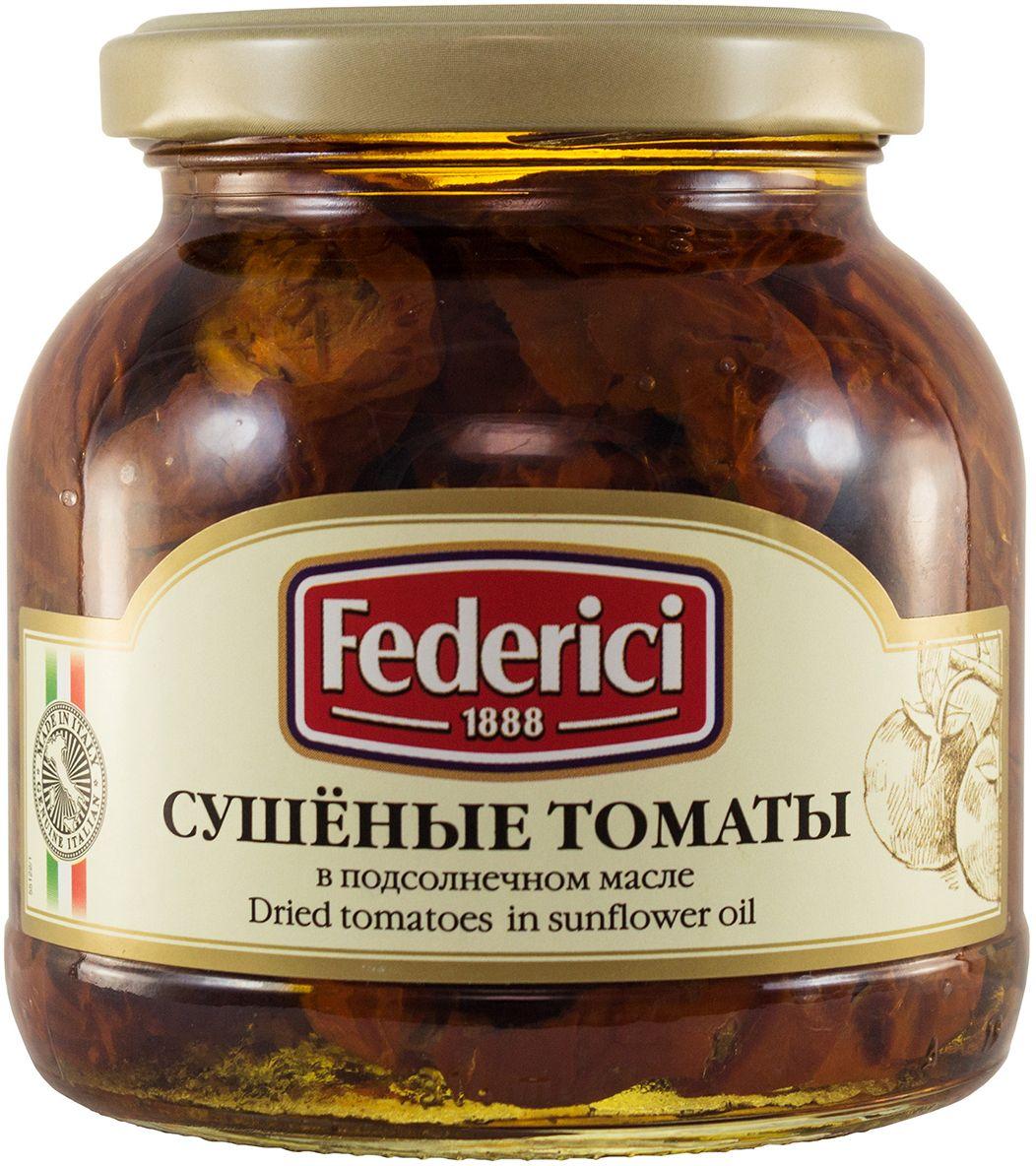 Federici Сушеные томаты в подсолнечном масле, 280 г mancin анчоусы филе в подсолнечном масле 78 г