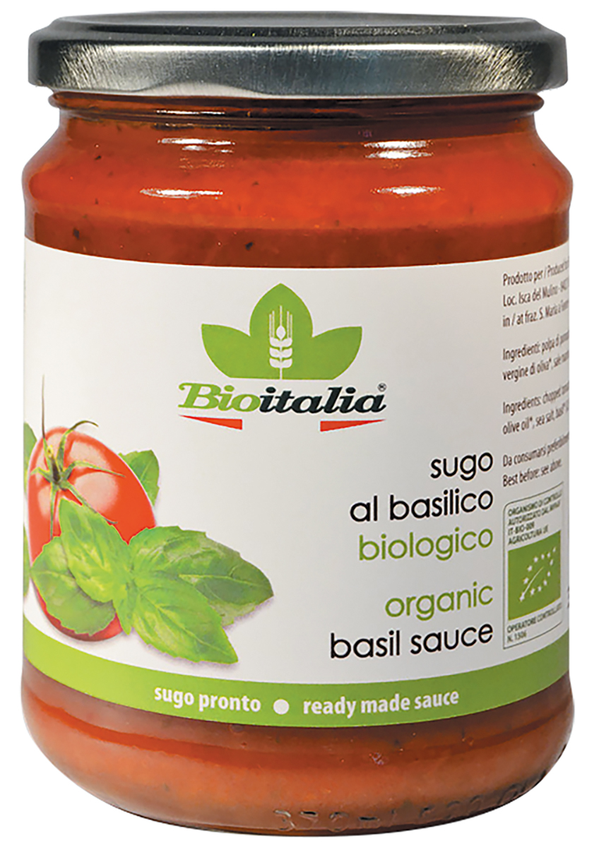 Bioitalia соус томатный с базиликом, 350 г соус кинто томатный чахохбили 350 г