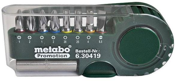 Набор бит Metabo, 9 предметов набор бит sparta с адаптерами для бит в пластиковом боксе 100 предметов