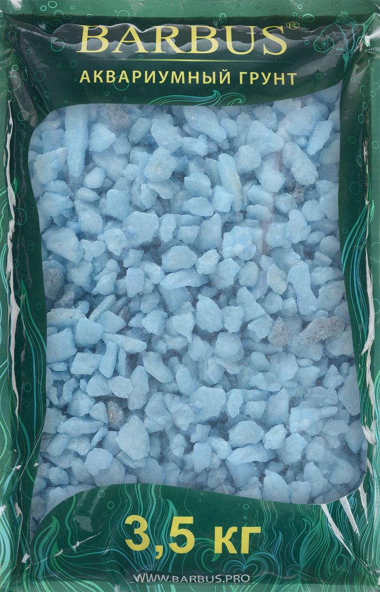 Грунт для аквариума Barbus Каменная крошка, цвет: голубой, 4-7 мм, 3,5 кг грунт для аквариума barbus горный натуральный кварц 2 7 мм 3 5 кг