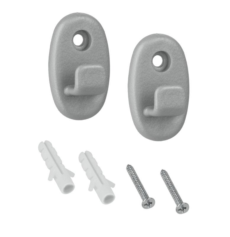 Крючки Metaltex Onda, 2 шт крючки набор 2 шт и клей metaltex серый