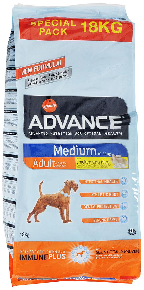 """Корм сухой Advance """"Medium Adult"""" для собак средних пород, с курицей и рисом, 18 кг"""