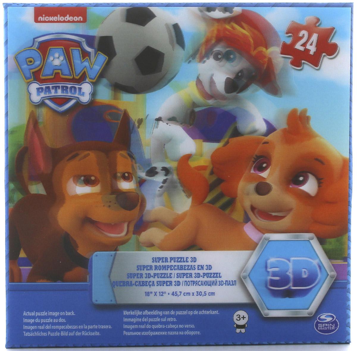 Paw Patrol Супер 3D пазл пазл paw patrol 6028786