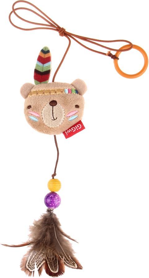 Фото - Игрушка-дразнилка для кошек GiGwi Медведь, на палец, 6 см игрушка triol удочка дразнилка перья для кошек 48 см зеленые перья