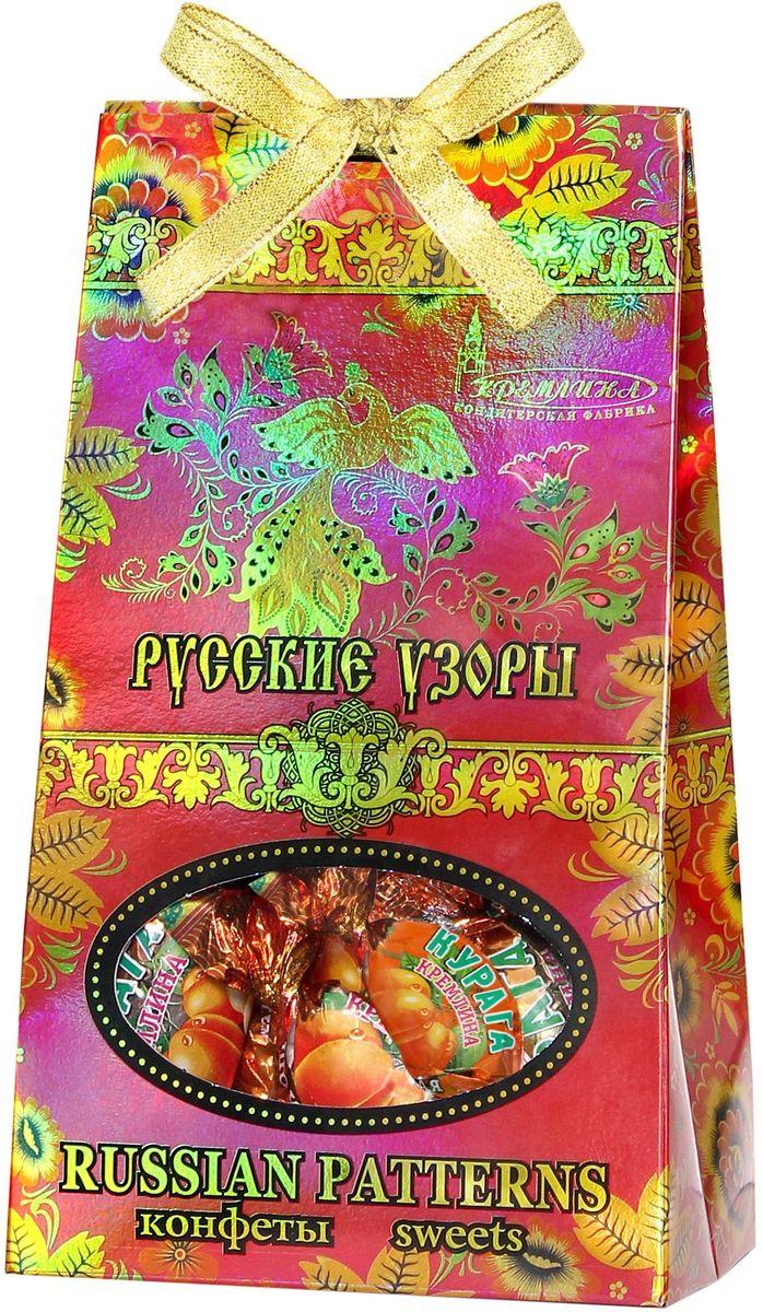Кремлина Русские узоры курага шоколадная с грецким орехом, 230 г кремлина микс чернослив с грецким орехом курага с грецким орехом финик инжир в шоколаде 1 кг