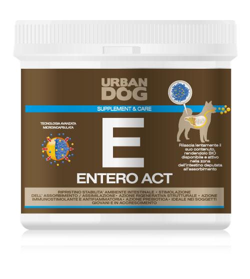 Пищевая добавка для собак Urban Dog Entero Act, для улучшения микрофлоры кишечника, 350 г бады ayunova herbalcare дармиум фитопрепарат для кишечника