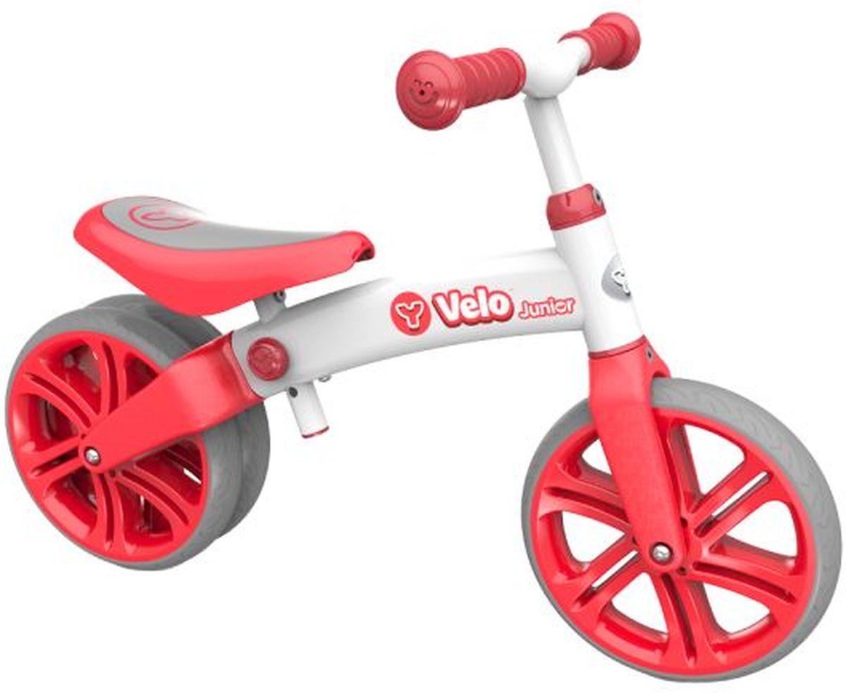 все цены на Y-Volution Беговел двухколесный Velo Junior с двойным колесом цвет красный онлайн